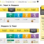 Scoot酷航推出2012年9~10月台北新加坡1元機票!