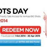 亞洲航空2014年10月~2015年4月30日BIG SALE特惠來囉!