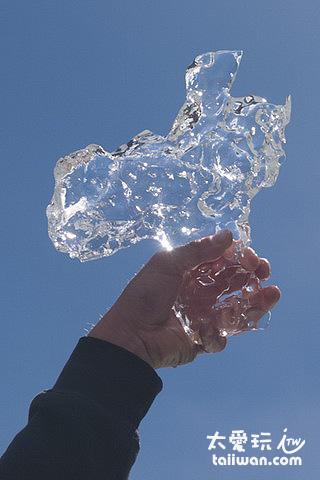 塔斯曼冰河船之旅 - 冰晶體