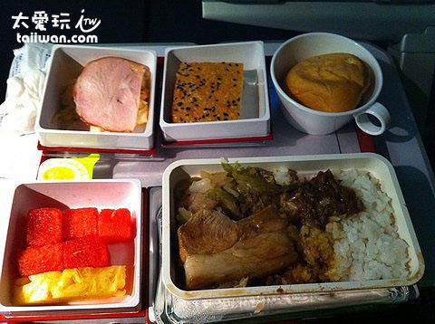 飛機餐不錯吃