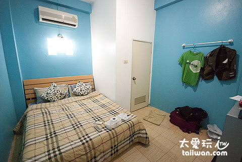 一晚600泰铢的房间,有冷气没有热水澡