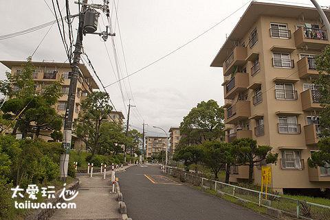 北千里寧靜的住宅區