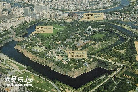 大阪城11顆巨石的位置