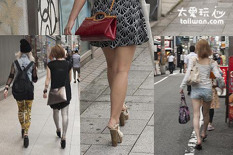 街上的女生必穿高跟鞋