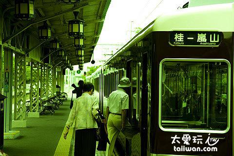 阪急電鐵嵐山站