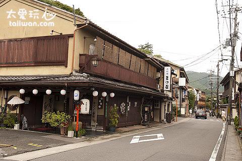嵐山街景跟台灣有點像