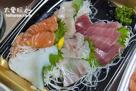 超讚的生魚片