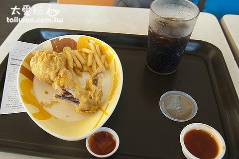 兩塊炸雞、薯條、可樂套餐100P