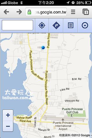 藍點距離機場超遠