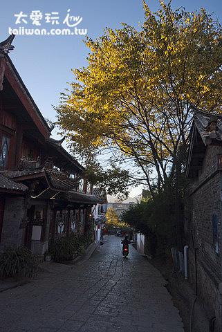 清晨的麗江大研古鎮