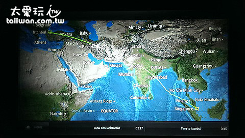 新加坡飛往伊斯坦堡的飛行時間是10個小時