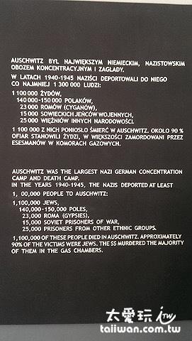 奧斯維辛Oświęcim集中營統計數據