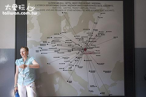 奧斯維辛Oświęcim集中營位於歐洲的地理中心