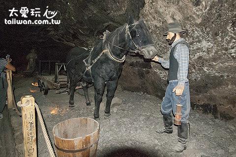 馬匹加入礦坑工作