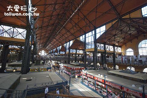 布達佩斯最大的市場Central Market Hall
