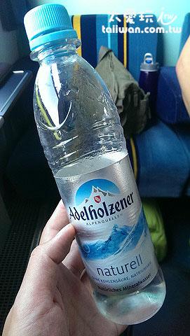 火車上一瓶礦泉水100台幣,我確定我到德國了!