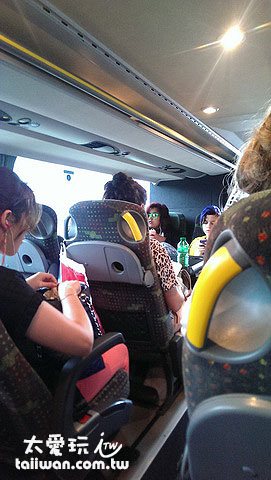 Mein Fern Bus車內空間不大