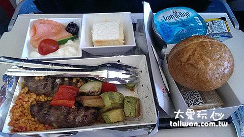 土耳其航空飛機餐不錯吃喔