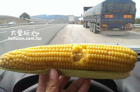 高速公路邊的玉米讚啊!
