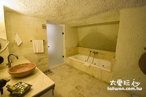 Kayakapi Premium Caves Cappadocia房間浴室