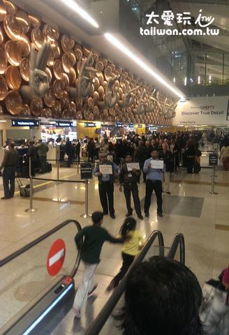 新德里機場的入境海關