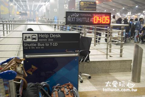 航站shuttle bus的搭車處