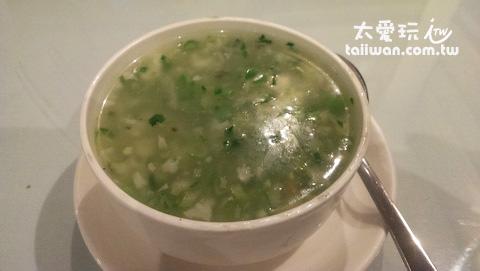 這碗素湯煮得很好吃!