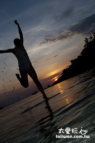 Sairee海灘夕陽