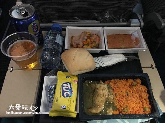 阿提哈德航空的飛機餐賣相跟味道都普通