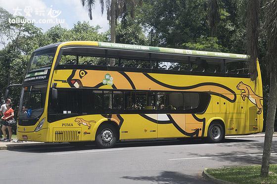 巴西邊的伊瓜蘇瀑布園區要搭環保公車