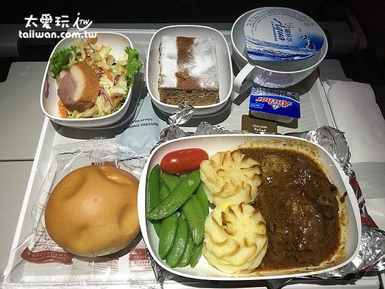 阿聯酋航空A380飛機餐還不錯