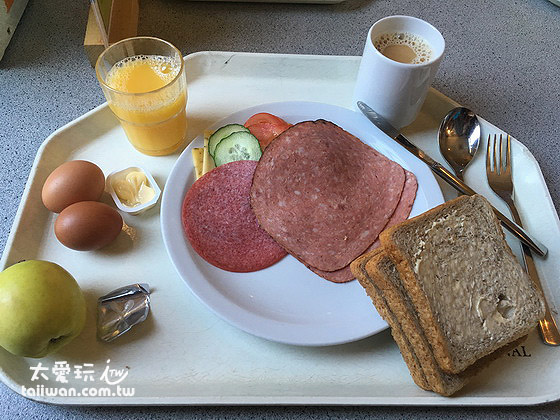 Hostel的早餐也很豐富