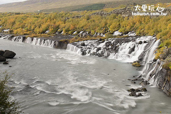 Barnafoss and Hraunfossar