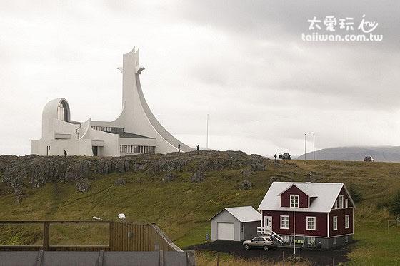 Stykkishólmur小鎮的教堂