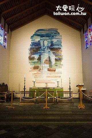 很有冰島特色的教堂