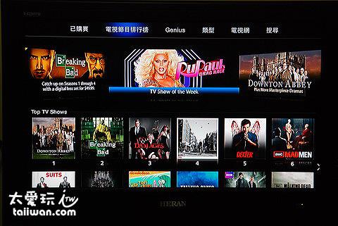 美國的iTunes Store還可以看美國電視影集