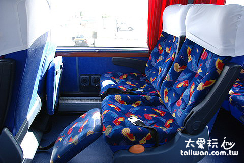 Semi Cama巴士還有一個舒適的腳墊