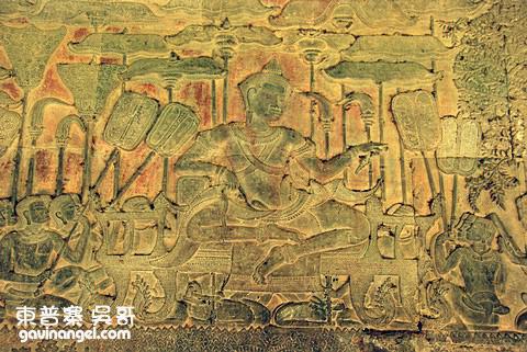 壁畫浮雕 Suryavarman II壁畫