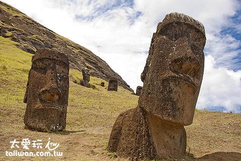 復活節島的摩艾Moai