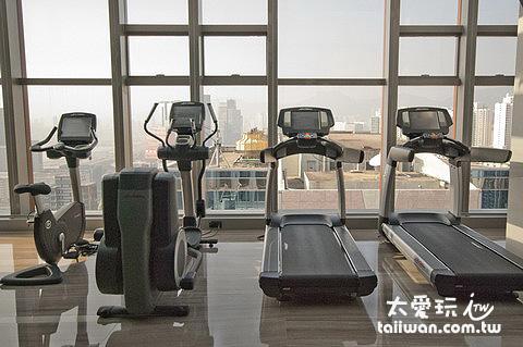 健身中心有很棒的View