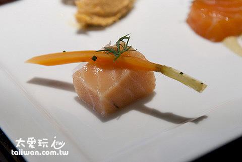 紅菜頭漬鮭魚