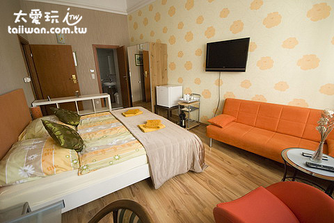 Budapest Guest Room客房有居家的感覺