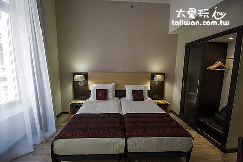 第一議會西佳飯店房間的部分很中規中矩