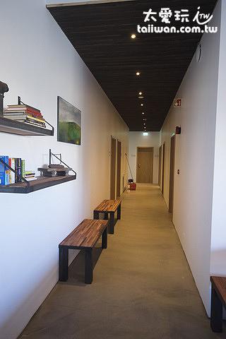 克夫拉威克卡夫住宿加早餐旅館一樓走廊