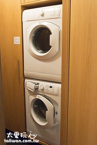 阿庫雷裡度假公寓有洗衣、烘衣機