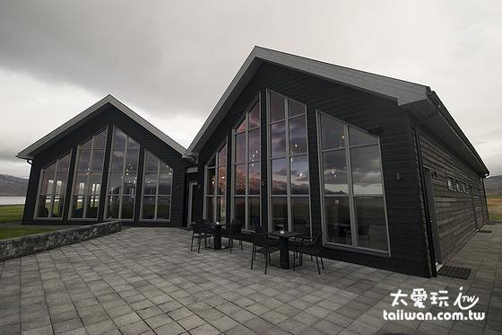 Bjórböðin也有兼營餐廳與住宿