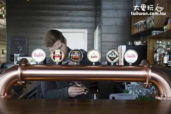 Bjórböðin的自釀啤酒很好喝