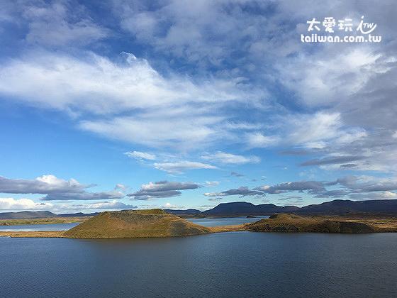米湖上的Skútustaðagígar偽火山口