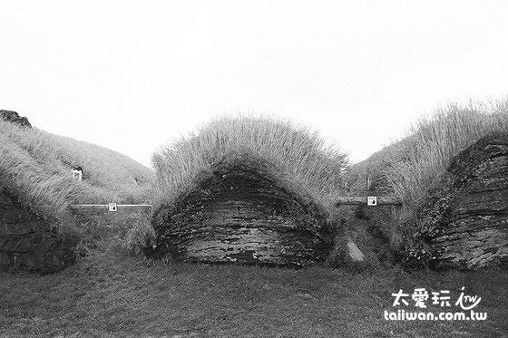 冰島人傳統草皮屋背面有點像我們的........