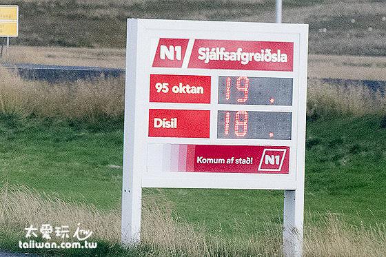 N1加油站的數量最多,但是油價也很貴
